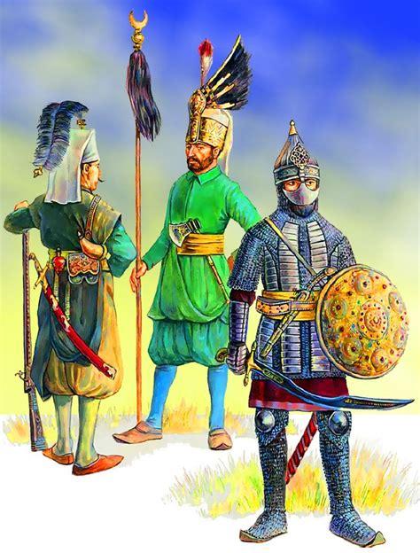 ottoman warrior an ottoman sipahi cavalryman on the right and two