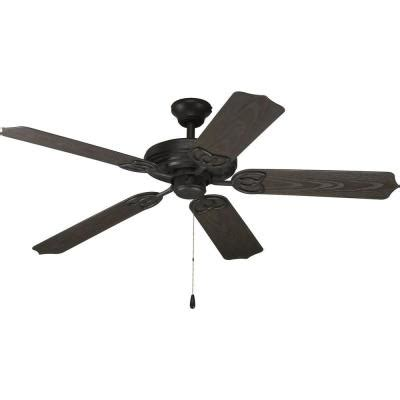 black fan with light progress lighting airpro 52 in forged black indoor
