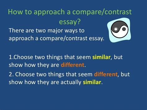 comparative essay writing part 1 writing a comparative essay ppt how