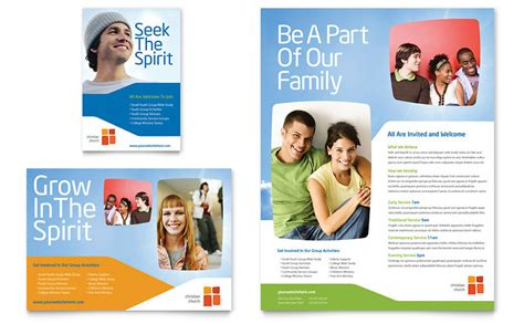 advertising brochure templates free church youth ministry flyer ad template word publisher