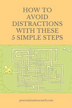 The Simple 5 Step Plan To Avoid Distractions 1000 images about power productivity project aka