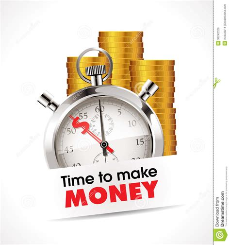 time to build stopwatch time to make money royalty free stock images