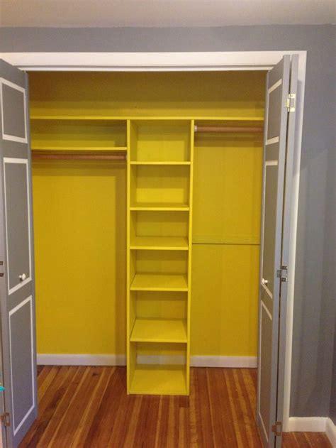 gray doors yellow closet new home