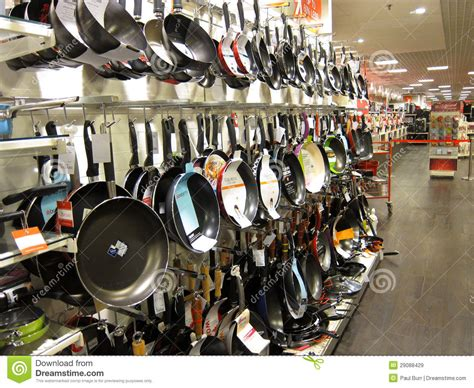 frying pans   store display editorial stock image image