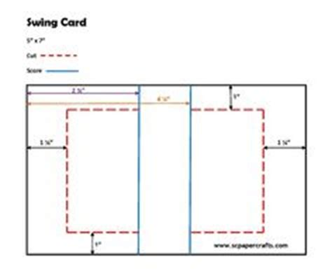 flip card template free swing card template bjl card techniques and