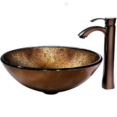 glass vessel bathroom sink vigo russet glass vessel bathroom sink and otis vessel