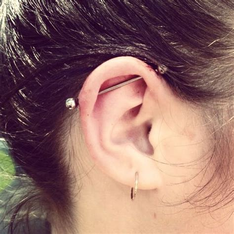 Top Ear Bar by 39 Best Ear Nose Piercings Images On