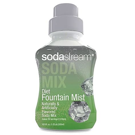 bed bath and beyond soda stream sodastream diet fountain mist sparkling drink mix bed