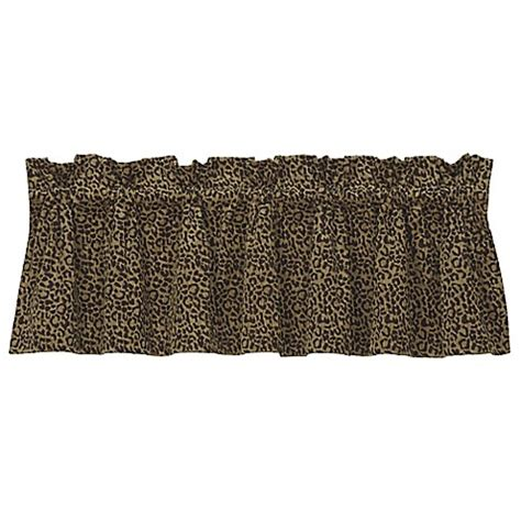 bed bath and beyond san angelo buy hiend accents san angelo leopard window valance from
