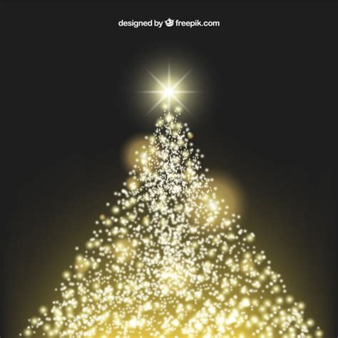 sparkling christmas tree vector free download