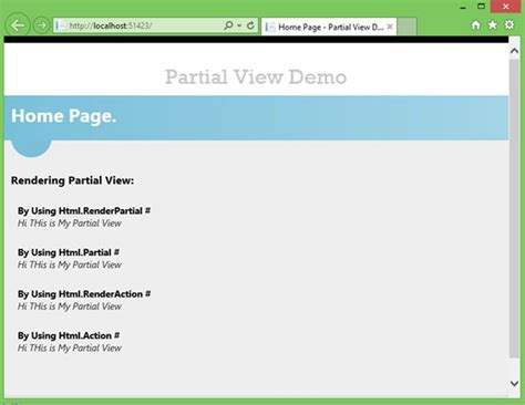 render partial view in layout mvc 4 partial view in mvc razor