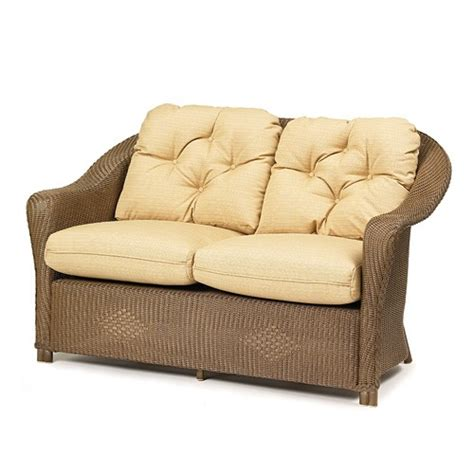 wicker loveseat replacement cushions lloyd flanders reflections loveseat replacement cushions