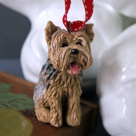 yorkie ornaments yorkie ornament made to look like your pet personalized ornaments