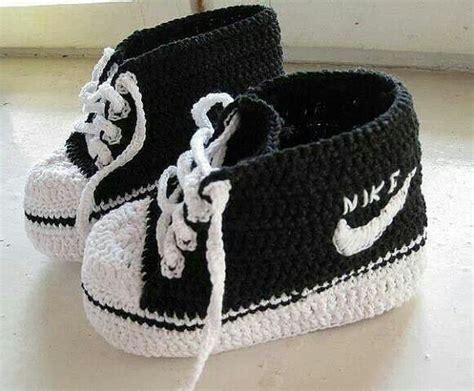 pattern crochet nike booties fabartdiy crochet nike inspired baby booties fab art diy