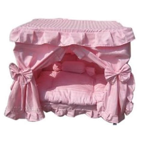 princess dog beds pink princess pet dog cat handmade bed house s m ebay