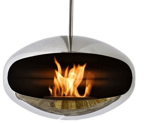 hanging fireplaces modern cocoon stainless steel hanging fireplace modern indoor