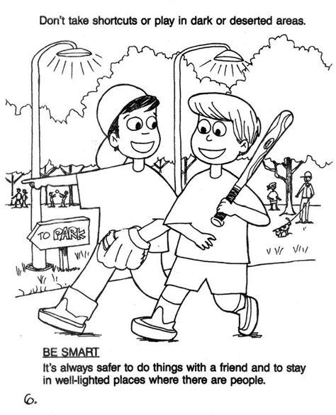 coloring pages for child safety 78 best images about safety on