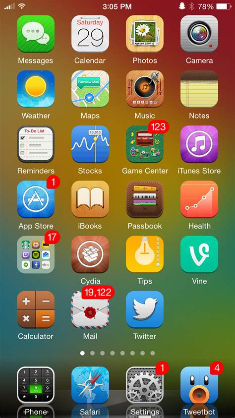 message themes for iphone 6 top 5 best winterboard themes for ios 8 taig jailbreak