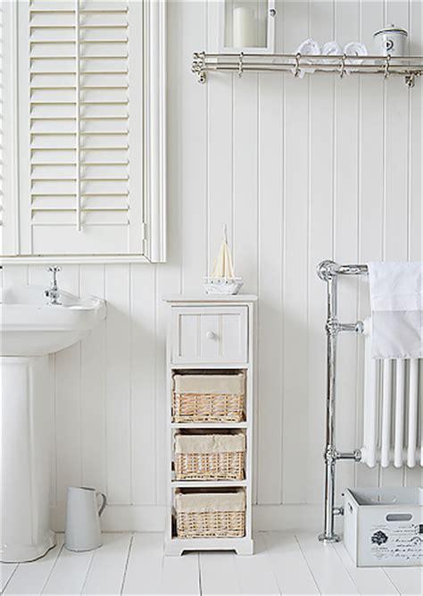 Bathroom Drawers The Range Cape Cod Slim White Bathroom Storage Furnitue With 4 Drawers