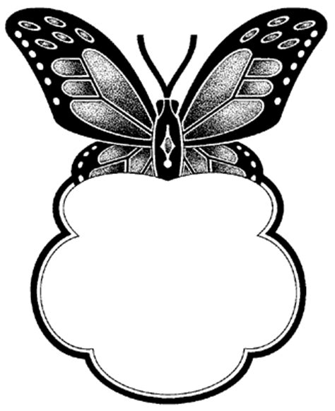 printable butterfly name tags mcolsoqo black and white butterfly pictures