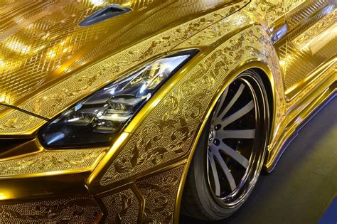 gold nissan car nissan golden car at a price of 3 million aed in