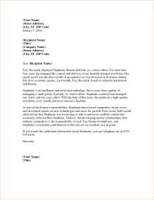 Letter Outline 4 Reference Letter Outline A Cover Letters