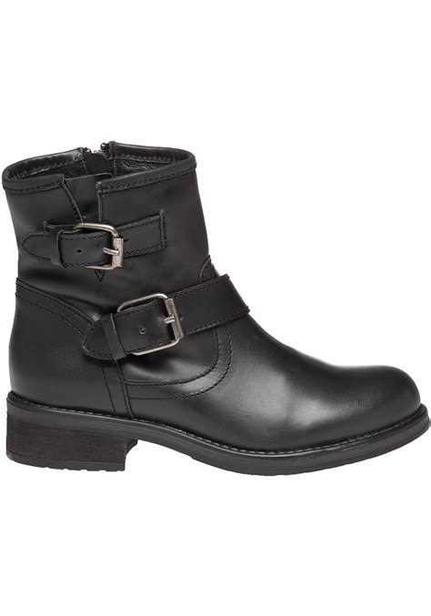 steve madden damiannn leather biker boots in black lyst