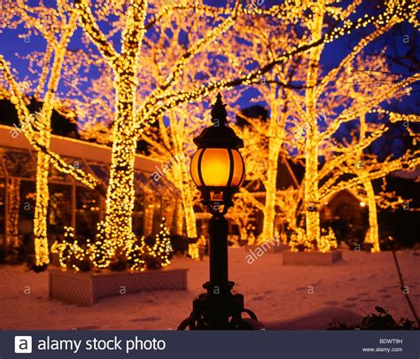 christmas central park new york city usa stock photo