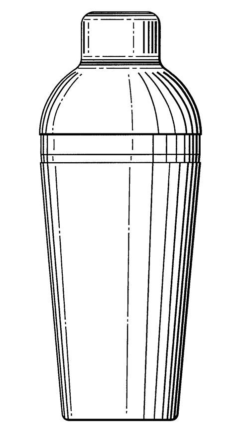 martini shaker drawing patent usd483982 cocktail shaker google patents