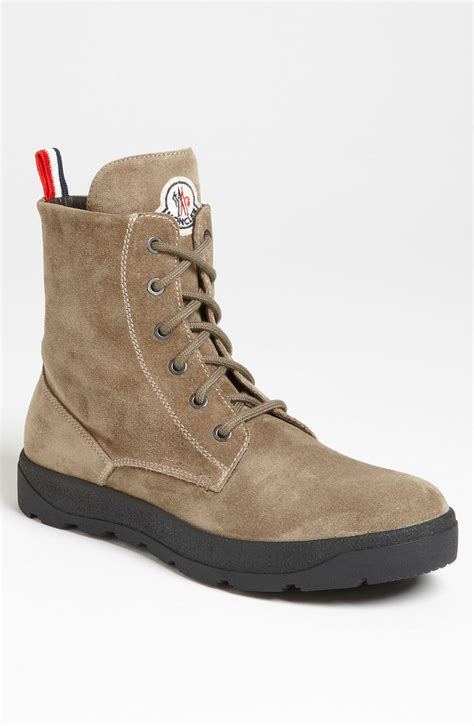 boot shoes for moncler park suede boot in beige for olive suede lyst