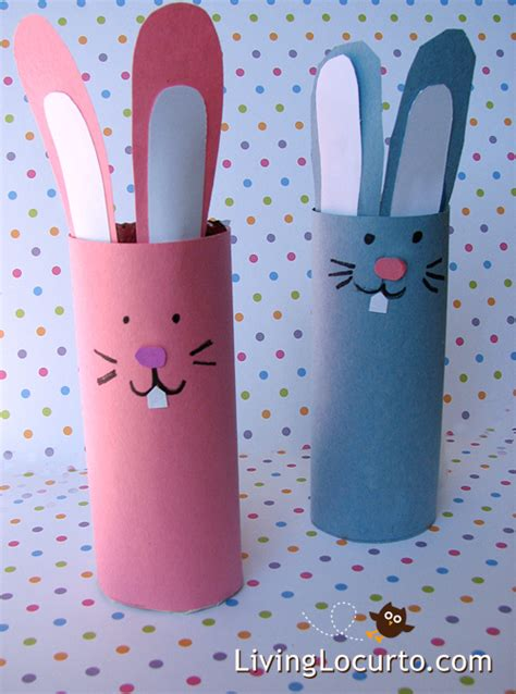 Toilet Paper Easter Bunny Craft - easter paper crafts for toilet paper roll craft