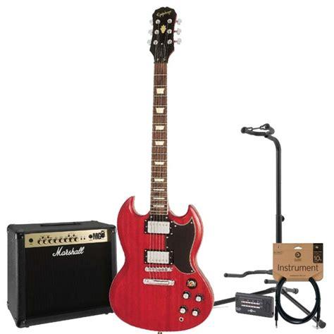 Gitar Epiphone Sg 60 epiphone sg vintage g 400 guitar cherry marshall 30w pack at gear4music