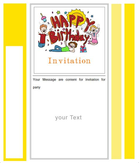 Blank Birthday Invitation Template Free Orderecigsjuice Info Blank Birthday Invitation Template