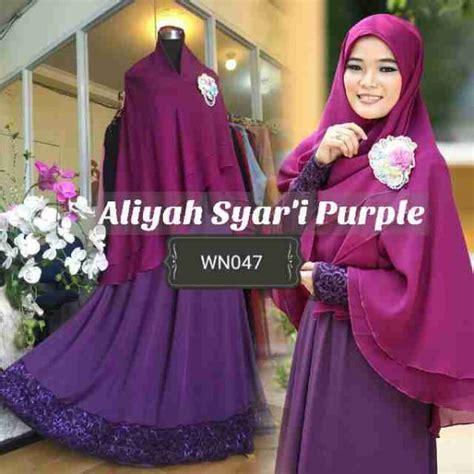 Syari Aliya by Gamis Aliyah Syari Purple Penguin A047 Baju Muslim Pesta