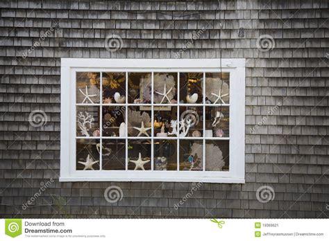 Cape Cod Windows Inspiration Cape Cod Window Stock Image Image Of Fish Rustic 19369621