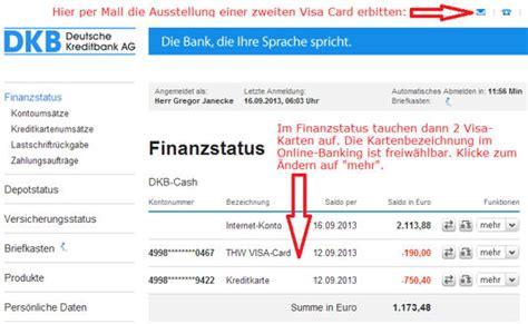 dkb wann wird kreditkarte abgerechnet dkb geniales konto visa card f 252 r in und auslandsnutzung