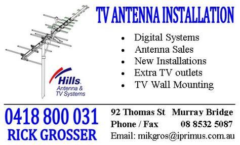 antenna installation t v on 92 st murray bridge