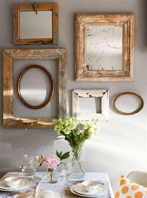 decorar con marcos vacios 10 formas espejos decorativos