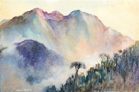 image gallery watercolor mountains
