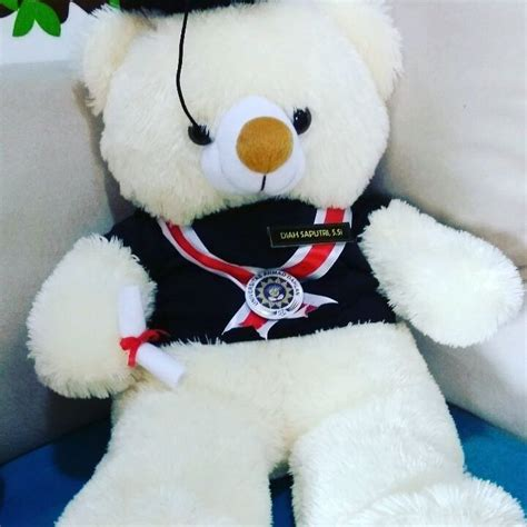 Boneka Wisuda Teddy Special Graduation jual hadiah skripsi jumbo murah kado wisudaku