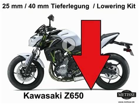 Z650 Tieferlegen by Tieferlegung Kawasaki Z650 Und 650 Um 25 Und 40 Mm