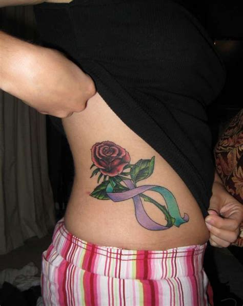 rose and ribbon tattoos two tone ribbon tattoos