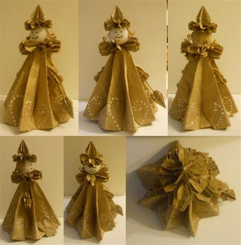 How To Make Origami Dolls - origami doll 3 d paper doll edwardian by