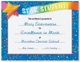 Star student award casual certificates