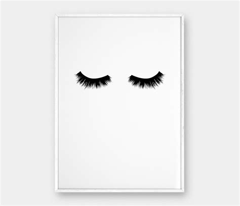 printable art posters lashes wall art printable poster scandinavian poster