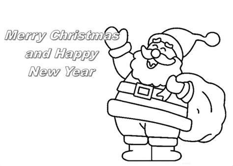 Merry Christmas Card Coloring Pages Gd05 Happy Merry Card Coloring Pages