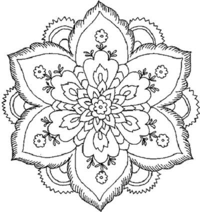 beautiful coloring pages for adults flower coloring