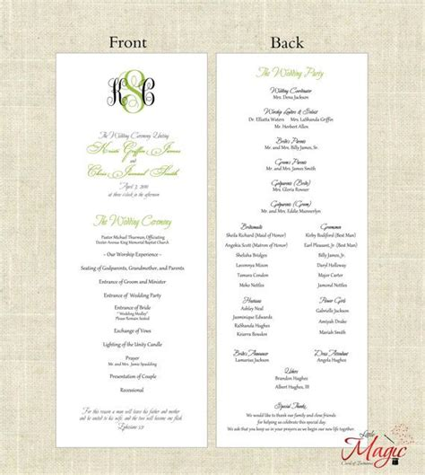 Printable Diy Wedding Programs Simple But By Littlemagiccards 25 00 Wedding Paper Simple Catholic Wedding Program Template