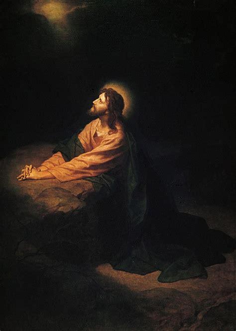 jesus praying   garden holy pictures  jesus
