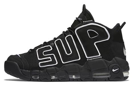 Nike Air Up Tempo X Supreme Blackout supreme nike air more uptempo suptempo sneaker bar detroit